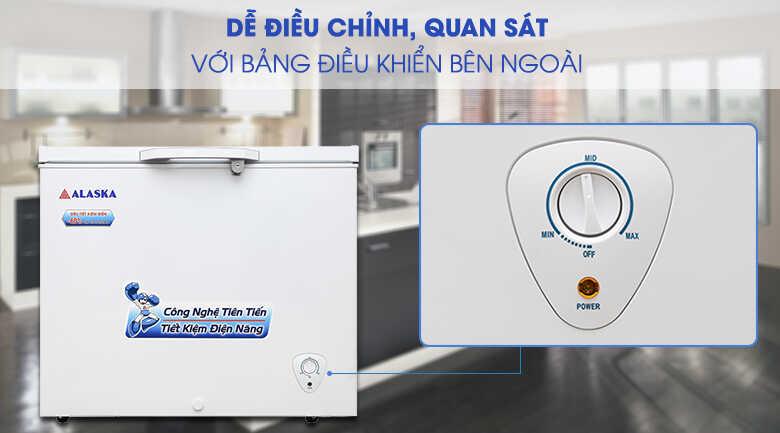 bảng điều khiển nhiệt độ dễ dàng trên tủ đông alaska