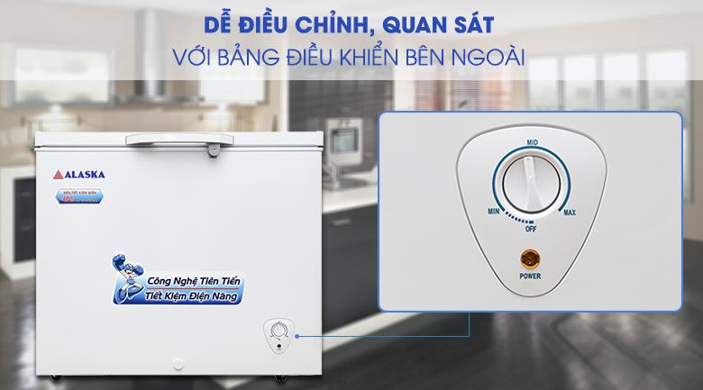 bảng điều khiển tủ đông dễ sử dụng