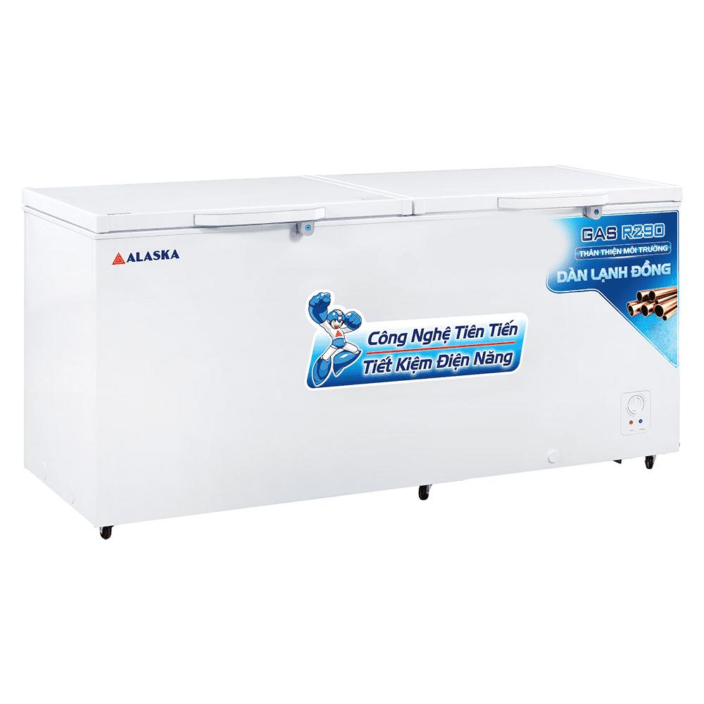 tủ đông alaska HB 1100C dàn lạnh đồng 1100 lút