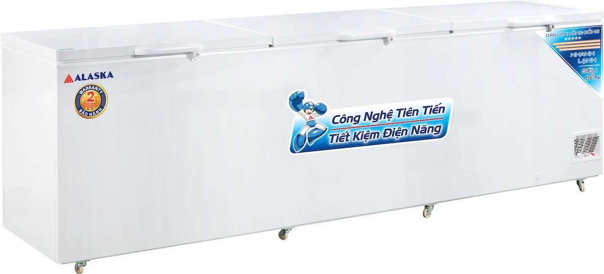 tủ đông alaska 1500 lít dàn lạnh đồng