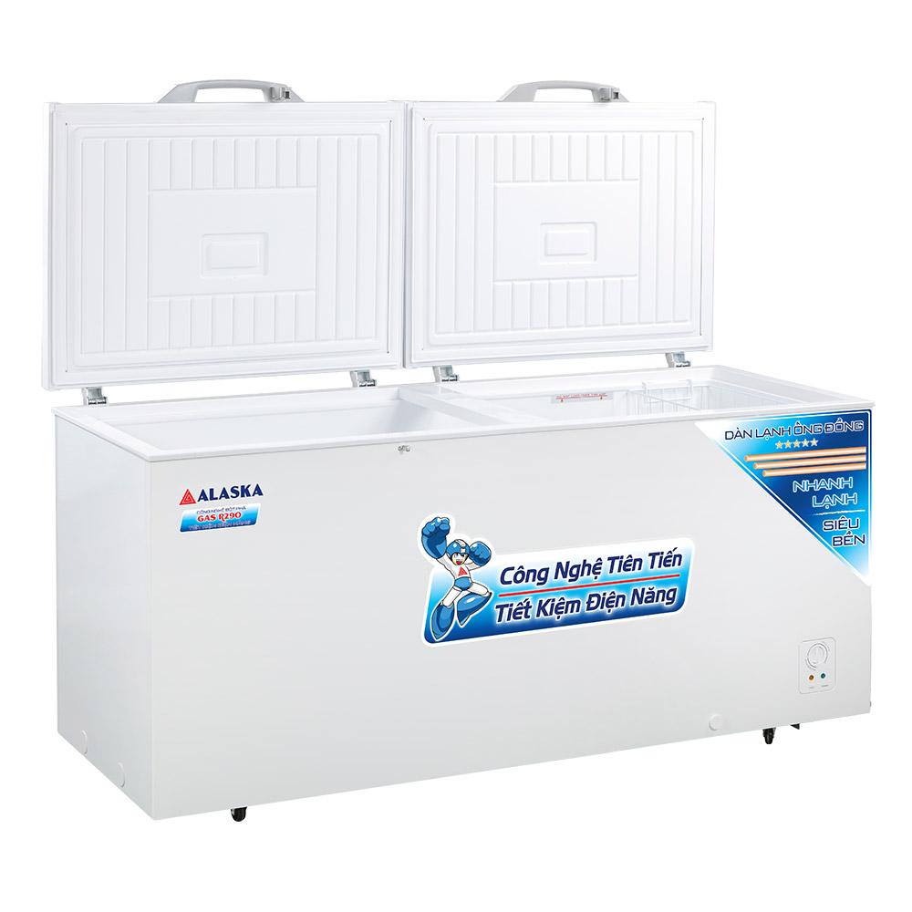 Tủ đông 550 lít dàn lạnh đồng alaska