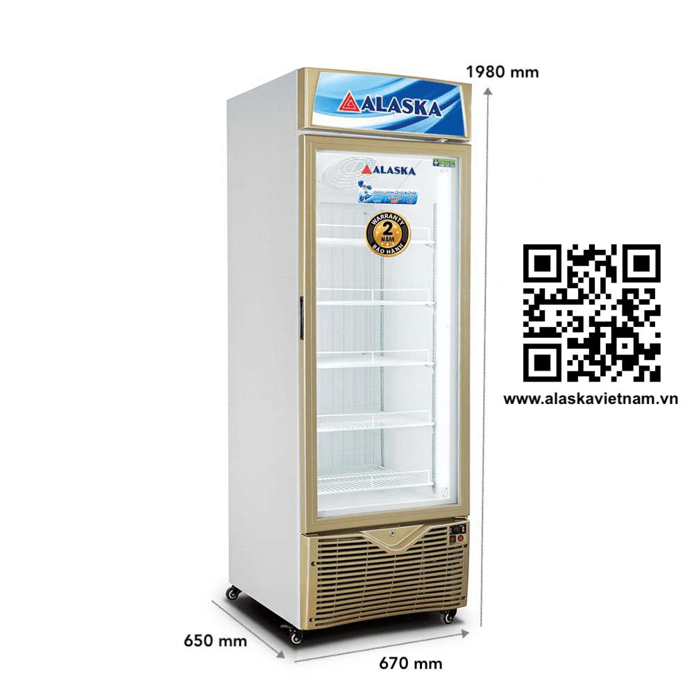 tủ đông đứng mặt kính FC 45G