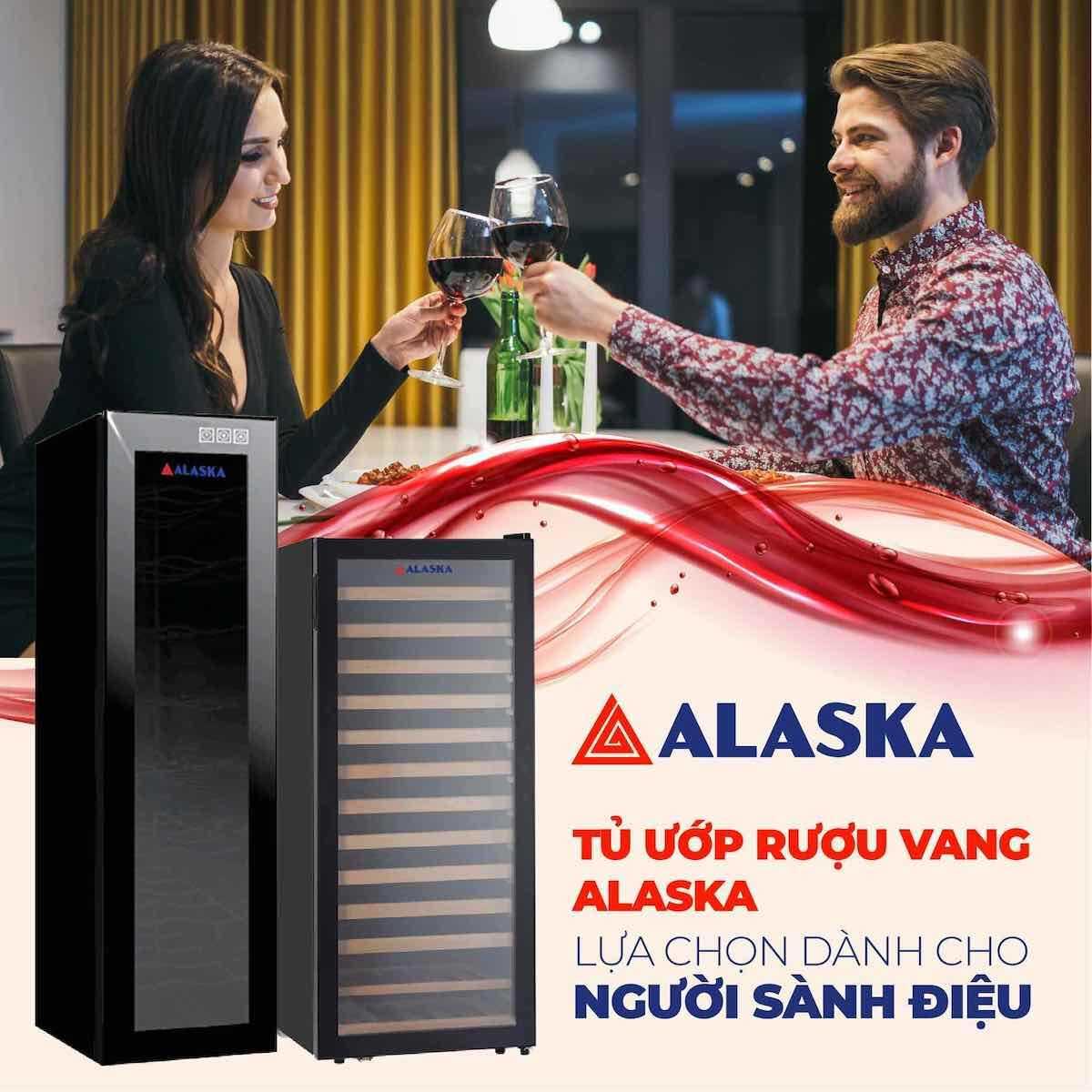 tủ rượu vang alaska JC 100, đựng 100 chai