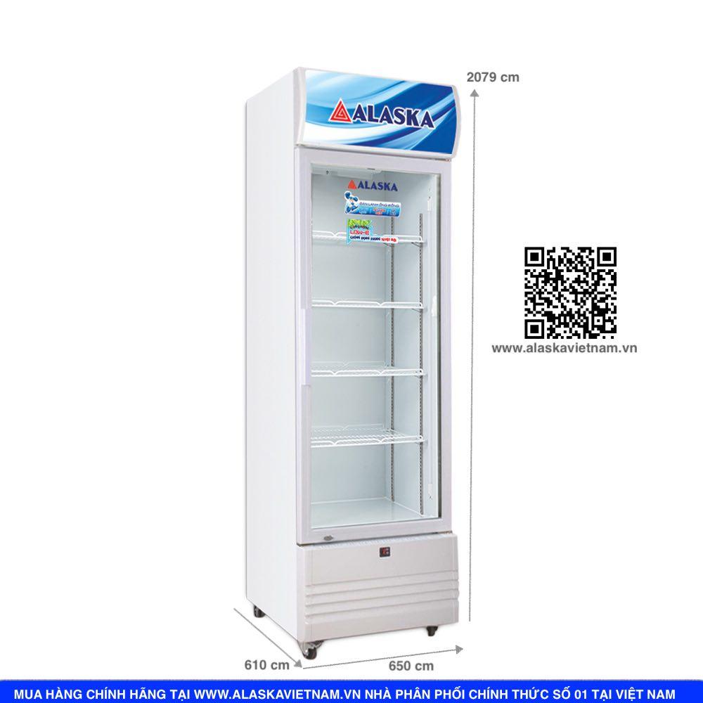 tủ mát alaska 500 lít dàn lạnh đồng LC 833C