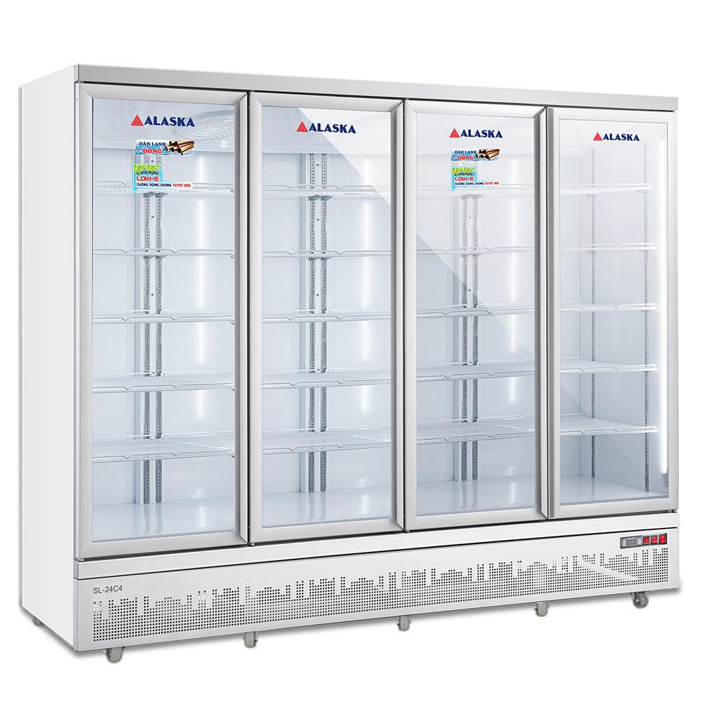 tủ mát siêu thị 4 cánh 2400 lít